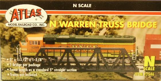 2546 Warren Truss Bridge Code 80 (N Scale)