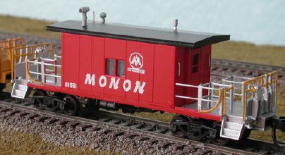 Bluford Shops N Scale Transfer Caboose