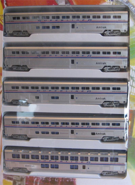 Con-Cor N Scale Superliner Car Sets