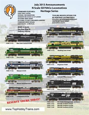 FVM NS Heritage SD70ACE