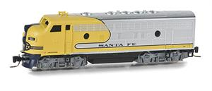 MicroTrains Z Scale ATSF Yellow Bonnet F7A