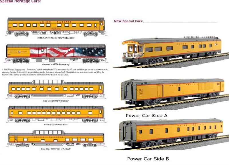 106-086 FEF 844 Excursion Train 7car Set Union Pacific