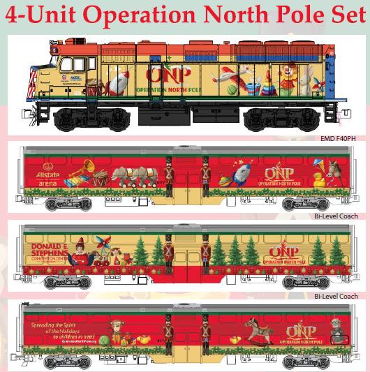 106-2015 - Operation North Pole ONP - Kato N Scale Christmas Train Set