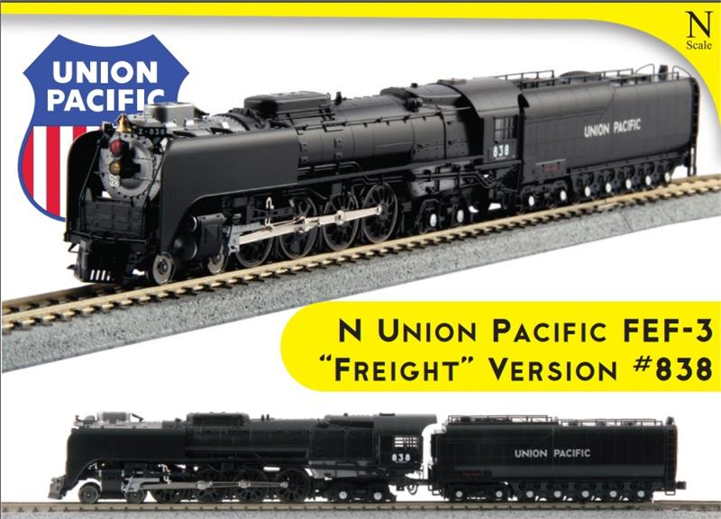 126-0402 Kato 4-8-4 Northern Union Pacific 838 FEF Freight