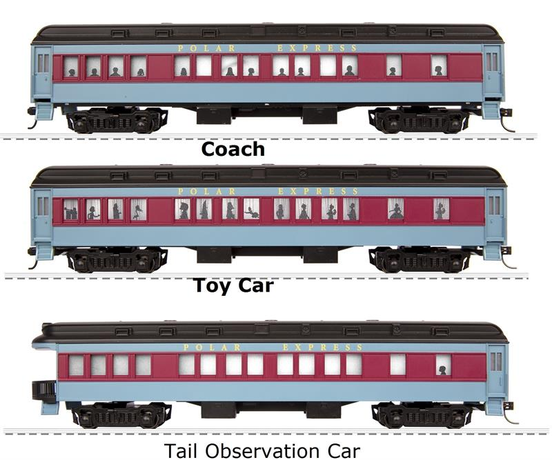 6 58019 The Polar Express Ho Scale 3 Car Add On Pack Ho Scale