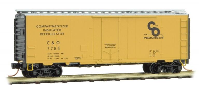 021 00 600 40' standard box car with plug door - Chesapeake & Ohio