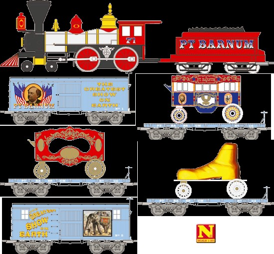 Micro-Trains N Scale Circus Set