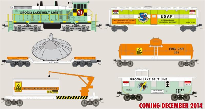 Area 51 N Scale Set