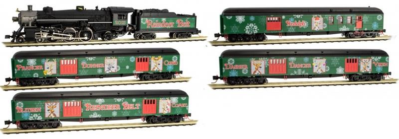 Ho Christmas Train.993 21 260 N Reindeer Belt Christmas Train Set N Scale