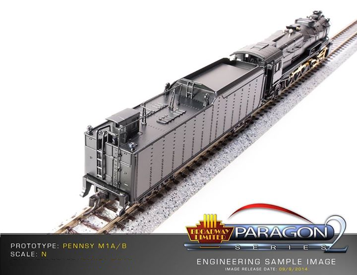 Paragon 2 Pennsylvania Railroad M1a M1b 4-8-2 Steam Locomotive PRR