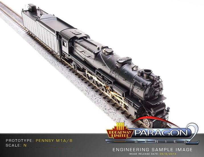 Paragon 2 Pennsylvania Railroad M1a M1b 4-8-2 Steam