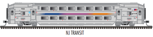 Atals MULTI-LEVEL NJ Transit Trailer w/o Toilet - Atlas N Scale