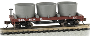 15554 Old time Water Tank Car - Us Military MRR - N Scale Bachmann