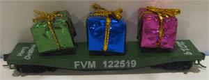 8944B FVM 2019 Christmas Flat Car with Gifts - N Scale FVM