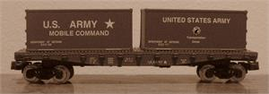 84055 Flat car with 2 containers - US Army - N Scale