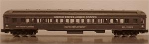 88611 Harriman Coach Passenger Car - US Army - N Scale