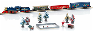 81846 - Christmas Steam Starter Set with oval track and power pack - Marklin Z Scale