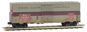 024 44 390 Weathered Box Car - Erie Lackawanna