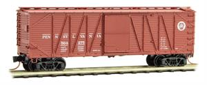 028 00 131 40' outside braced box car - Pennsylvania 564275 - REPRINT - N Scale