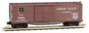 041 00 020 double-sheathed wood box car with 1-1/2 door - Lehigh Valley