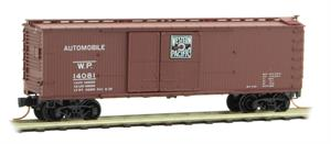 041 00 050 double-sheathed wood box car with 1-1/2 door - Western Pacific 14081 - N Scale