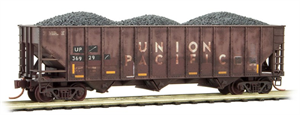 108 44 360 Weathered Open Hopper - Union Pacific - N Scale
