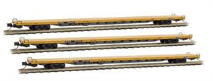 993 00 127 89' Trailer Train Center Flat Car - Runner 3 Pack Micro Trains N Scale