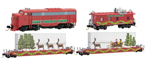 993 21 290 - Husky Holiday Hauler Christmas 2017 Train Set - N Scale
