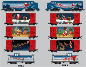993 21 340 Santa's Off-The-Rail Express Christmas Set for 2020 - Micro-Trains N Scale