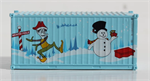 JTC 205391 20' Std Container CS 2018 Holiday - N Scale