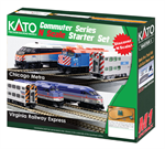 106-0037 N F40PH and Gallery Bi-Level Commuter Series Starter Set