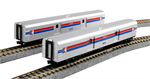 KAto N Scale 106-3512 Amtrak Baggage Cars