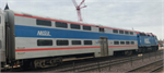 156-0970 N Pullman Bi-Level 4-Window Coach, Chicago Metra #7836 - N Scale