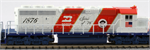176-4816-KB1 EMD SD40-2 Kobo Custom Paint - Burlington Northern Bicentennial