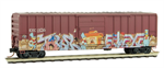 025 44 007 Weathered 50' rib side box car - East Erie Commercial