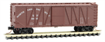 028 00 250 40' outside braced box car - Northern Pacific 20300 - N Scale