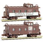 100 00 370 36' Caboose - ATSF Safety Caboose