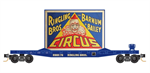 045 00 521 50' flat car with fishbelly sides - N Scale Ringling Brothers - Clown Billboard #1 - Rd 78 -N Scale