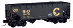 MicroTrains 055 00 511 33' twin bay hopper B&O