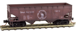055 44 060 33' Weathered Offset Side twin bay hopper - Great Northern