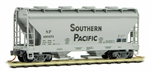 092 00 361 2-Bay Covered Hopper - Southern Pacific 490373
