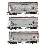 092 44 170 Weathered - Great Northern Weathered 3pk N Scale