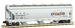 093 00 030 three bay Centerflow covered hopper - New York Central 886062