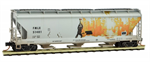 094 44 530 Weathered 3 bay Covered Hopper - FMC Corp 51401