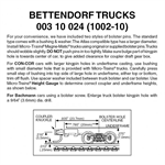 MT1002-10 Bettendorf Trucks w/ Long coupler