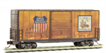 101 44 040 50' Weathered standard box car - Union Pacific - N Scale