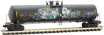 110 44 240 Weathered Graffiti 56' general service tank car - UTLX 211847 - N Scale