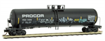 110 44 300 Weathered & Graffiti 56' General Service Tank Car - Procor - N Scale