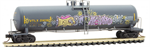 110 44 430 Weathered Graffiti 56' general service tank car - UTLX 204038 - N Scale