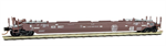 135 00 070 70' Husky Stack Well Car - KAnsas City Southern 9027 - N Scale